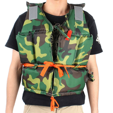 Adult Foam Flotation Camouflaged Life Jacket Vest With Whistle Boating Swimming Safety Life Jacket