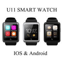 U11 Sports Wristwatch Bluetooth Touch Screen Smart Watch For Android and IOS Support Multi Language