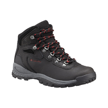 Columbia Women's Newton Ridge Plus Hiking Boot Black Poppy Red
