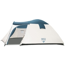 8 Person Camping Dome Tent - Green & Cream White
