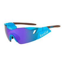 Bolle 6th Sense AG2R Shiny Blue/Brown Sunglasses Blue Violet