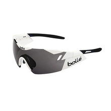 Bolle 6th Sense Shiny White/Black Sunglasses Mod Clear Grey