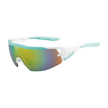 Bolle Aeromax White/Mint Adult Sunglasses Mod Brown Emerald