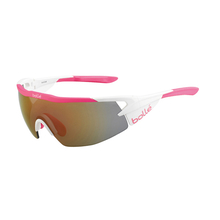 Bolle Aeromax Matte White/Pink Adult Sunglasses Rose Gold