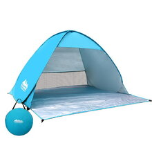 4 Person Portable Pop Up Camping Tent - Blue
