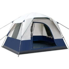 4 Person Family Camping Tent Navy Grey