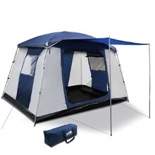 6-Person Dome Camping Tent - Navy and Grey