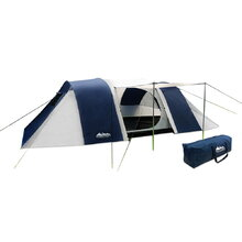 12 Person Family Camping Tent Navy Grey