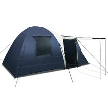 8 Person Canvas Dome Camping Tent - Navy & Grey