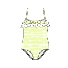 Ocean & Earth Tod Girls Lucy Frill One Piece Citrus