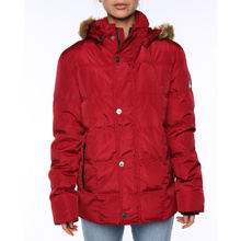 Ocean & Earth Ladies Polar Down Puffer Jackt Red