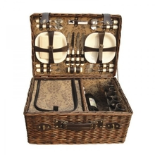 Companion Deluxe Wicker Picnic Set For Four