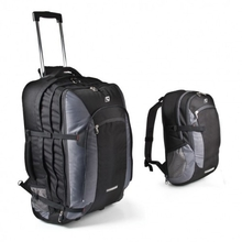 Companion Travel Trolley Bags with 15L Day Pack Black