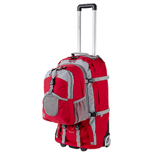 Explore Planet Earth Cursa 65L Red Wheelie Bag