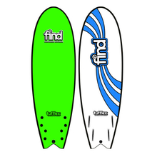 "FIND™ 5'10"" Tufflex Quadfish Soft Surfboard Softboard Green"