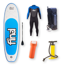 "FIND™ 10'6"" Techlite Inflatable ISUP Stand Up Paddle Board Package with Wetsuit Male"