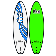 "Find 6'0"" Tufflex Thruster Soft Surfboard Green"