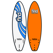 "Find 6'0"" Tufflex Thruster Soft Surfboard Orange"