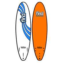 "Find 7'0"" Tufflex Thruster Soft Surfboard Orange"