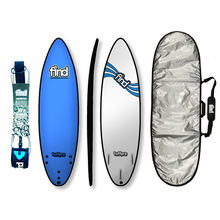 "Find 6'0"" Tuffpro Thruster Soft Surfboard Package Blue"