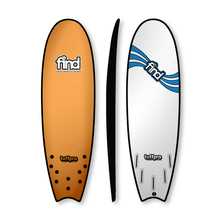 "Find 5'9"" Tuffpro Quadfish Soft Surfboard Orange"