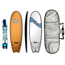 "Find 5'9"" Tuffpro Quadfish Soft Surfboard Package Orange"