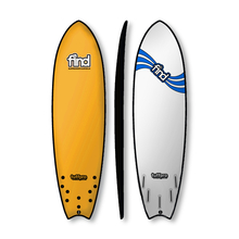 "Find 6'9"" Tuffpro Quadfish Soft Surfboard Orange"