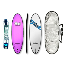 "Find 5'6"" Tuffpro Thruster Soft Surfboard Package Pink"