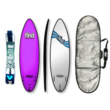 "Find 6'0"" Tuffpro Thruster Soft Surfboard Package Pink"