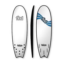 "Find 5'9"" Tuffpro Quadfish Soft Surfboard White"