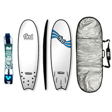 "Find 5'9"" Tuffpro Quadfish Soft Surfboard Package White"