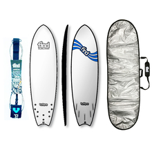"Find 6'9"" Tuffpro Quadfish Soft Surfboard Package White"