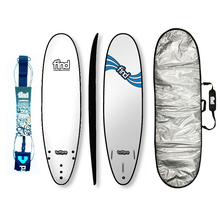 "Find 7'0"" Tuffpro Mini Mal Soft Surfboard Package White"