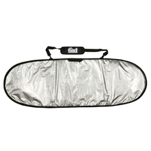 "Find 5'6"" Padded Silver Surfboard Cover/Bag"