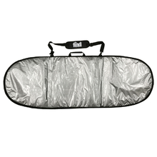 "Find 5'9"" Padded Silver Surfboard Cover/Bag"