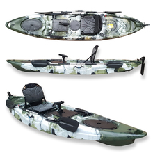 FIND™ Dream 3.5 Single Fishing Kayak Forest Camo with PRO Seat, Paddle,  Adjustable Foot Rests/Rails & Rod Holder