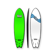 "FIND 6'9"" Tufflex 2 Quadfish Soft Surfboard Green"