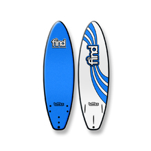 "FIND 6'0"" Tufflex Thruster Soft Surfboard Blue"
