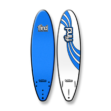 "FIND 7'0"" Tufflex Thruster Soft Surfboard Blue"