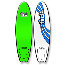 "FIND 6'6"" Tufflex Quadfish Soft Surfboard Green"