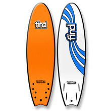 "FIND 6'6"" Tufflex Quadfish Soft Surfboard Orange"