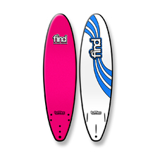 "FIND 7'0"" Tufflex Thruster Soft Surfboard Pink"