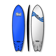 "FIND 6'9"" Tuffpro Quadfish Soft Surfboard Blue"