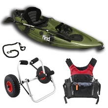 Melbourne FIND™ Stealth 2.7 Single Fishing Kayak Package Green Including PDF Adult and Kayak Trolley