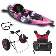 Melbourne FIND™ Stealth 2.7 Fishing Kayak Package Pink Including PDF Adult and Kayak Trolley