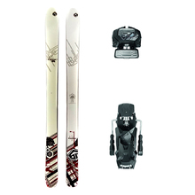 Bluehouse District Powder Twin Tip Snow Skis with Tyrolia Attack2 13 GW Binding - 176cm