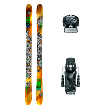 Trans Powder Force Twin Tip Snow Skis with Tyrolia Attack2 13 GW Binding - 180cm