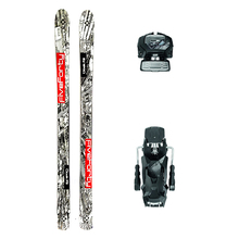 Five Forty Cloak Powder Twin Tip Snow Skis with Tyrolia Attack2 13 GW Binding - 191cm