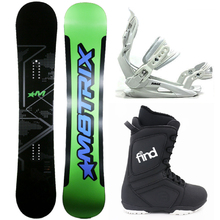 Matrix Rad 151cm Triple Rocker Snowboard Package with Bindings & Boots