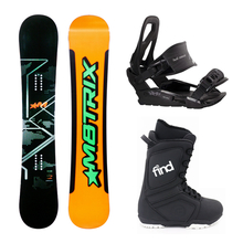 Matrix Snowboard Sandwich Rad Triple Rocker 156cm Package with Bindings & Boots